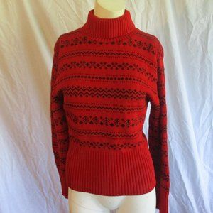 American Knitworks red print sweater